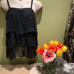 Black sheer layers blouse